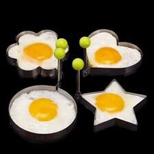Stainless Steel Pancake Mould Mold Ring Cooking Fried Egg Shaper Kitchen Too SGl