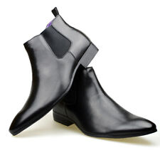Mens Black Brown Leather Smart Formal Casual Chelsea Boots Shoes 6 7 8 9 10 11