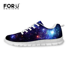 Galaxy Space Sky Lady Women Lace-up Sport Shoes Sneakers Casual Running Shoes