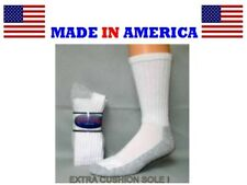 men white cotton thick cushioned steel toe work sock shoe sz 8-14gift him USA