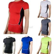 Compression Mens Muscle Athletic T Shirt Base Layer Sport Gear Tops S-XXL E15