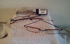 (2) Two Pair - InSight Compact EdgeGlow Reading Glasses in Tube Men's +2.50