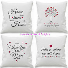 PERSONALISED Cushion Covers Gift PRESENTS For Wedding Couple HOME Decor Birthday