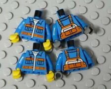 LEGO Minifig Torso Blue with Overalls Assorted  x4PC