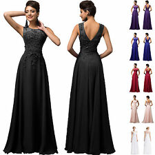 PLUS SIZE Appliques Long Prom Party Formal Evening Ball Gown Bridesmaid Dress GK