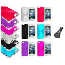 Chrome Aluminum Hard Luxury Case Cover Accessory+Car Charger for iPhone 5 5S