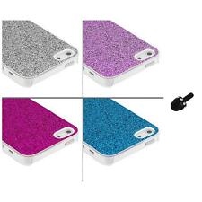 Glitter Bling Sparkly Ultra Thin Hard Case Cover+Mini Stylus for iPhone 5 5S
