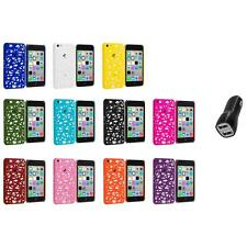 For Apple iPhone 5C Color Birds Nest Slim Hard Snap-On Case Cover+2.1A Charger