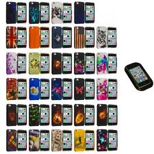 For Apple iPhone 5C Hard Snap-On Design Rubberized Case Cover+Sticky Pad