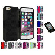 For Apple iPhone 6 (4.7) Hybrid Mesh Case Cover Accessory Sticky Pad