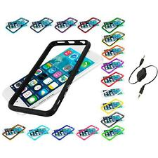 For Apple iPhone 6 (4.7) TPU Bumper Frame Metal Buttons Case Aux Cable