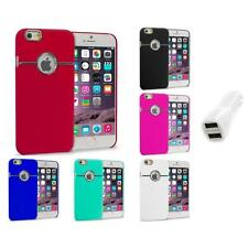 For iPhone 6 Plus (5.5) Hard Deluxe Chrome Rear Slim Case Cover Car Charger