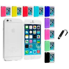For Apple iPhone 6 Plus 5.5 Color TPU Rubber Case Cover Stylus Plug