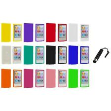 Color Silicone Soft Rubber Gel Case Cover+Stylus Plug for iPod Nano 7th Gen 7G 7