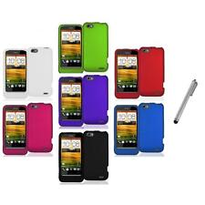 Color Hard Snap-On Rubberized Case Cover Accessory+Metal Pen for HTC One V