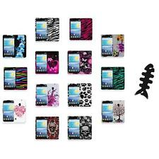 For LG Lucid 2 VS870 Color Hard Design Rubberized Case Cover+Cable Wrap