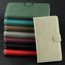 Matte Leather Flip Stand Wallet Pouch Case Cover For Samsung Galaxy S5 SV i9600