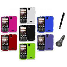 Color Hard Snap-On Rubberized Case Cover+Charger+Pen for Motorola Xprt MB612