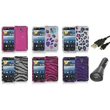 Color Bling Diamond Rhinestone Case Cover+Charger+USB for Pantech Discover P9090