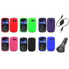 Color Silicone Rubber Gel Case Cover+Aux+Charger for Pantech Link II 2 P5000