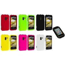 Color Hard Snap-On Rubberized Case Cover+Sticky Pad for Samsung Conquer 4G D600