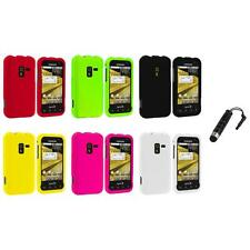 Color Hard Snap-On Rubberized Case Cover+Stylus Plug for Samsung Conquer 4G D600