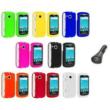 Color Hard Snap-On Skin Case Cover+Car Charger for Samsung Doubletime I857 Phone