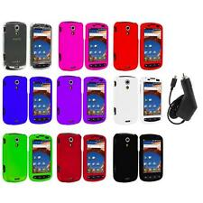 Color Hard Snap-On Case Cover+Charger for Samsung Epic 4G Phone Accessory
