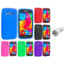 For Samsung Galaxy Avant G386 Silicone Rubber Case Cover USB Charger