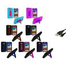 Hybrid Case Cover Stand+USB Cable for Samsung Attain Galaxy S2 II i9100