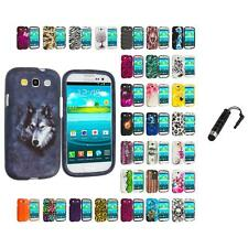For Samsung Galaxy S3 Hard Design Snap-On Skin Case Cover Stylus Plug