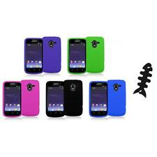 Color Silicone Rubber Gel Soft Skin Case Cover+Cable Wrap for ZTE Avid 4G N9120