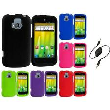 ZTE Radiant Z740 Hard Snap-On Case Cover Accessory Aux Cable