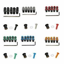 M5 5MM Bolts CNC Motorcycle Bike Windshield Screws Mounting Nuts Kit Fairing NEW