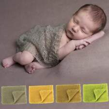 Baby Infant Stretch Knit Crochet Wrap Photo Prop Newborn Baby Solid Photography