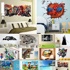3D Removable Wall Sticker DIY Mural Vinyl Art Decal Home Kids Bedroom Decoration