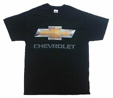 Chevy Bowtie Chrome Logo 100% Cotton Graphic Print Short Sleeve T-Shirt