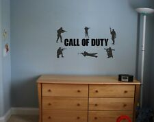 Call of duty wall art sticker boys bedroom / playroom  (army soldiers)