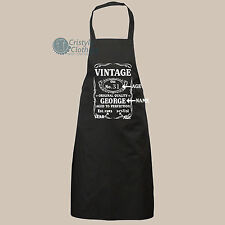 PERSONALISED Birthday Gift Present Apron PRINTED with Name, Age & Birth Year