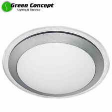 NEW CLA Lighting 28w Round Silver Trim LED Oyster Ceiling light Cool/Warm White