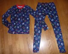 Boys AVENGERS Cuddl Duds Poly LONG UNDERWEAR 2pc Pajamas size S M L pants shirt