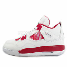 Nike Air Jordan 4 Retro BG [408452-106] Basketball White/Black-Gym Red