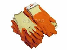 12 PAIRS SIZE 9 THERMAL WINTER BUILDERS LATEX RUBBER WORK GLOVES GARDENING NEW