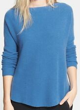 NWT $325 Vince Boat Neck Shirttail Hem Cashmere Sweater