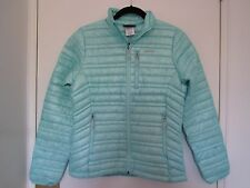 Patagonia Women's Ultralight 800 Down Fill Sweater Jacket Goose Slim Fit Blue