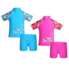 Kids Girl Two Piece Tankini Swimwear Bikini Bathing Swim Suit Size 8 10 12 14 16