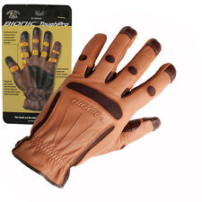 2 Pairs Bionic Tough Pro All Purpose Garden Gloves. All Sizes.Full Leather