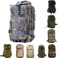 3P Military  Molle Tactical Backpack Rucksack Camping Hiking Bag Oxford Solid