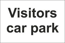 Visitors Car Park Sign 300x200mm Rigid Plastic,Self Adhesive