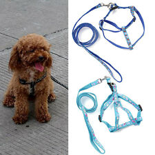 New Nylon Dog Harness with Leash for Small Medium Dog Puppy Adjustable 2 Size
